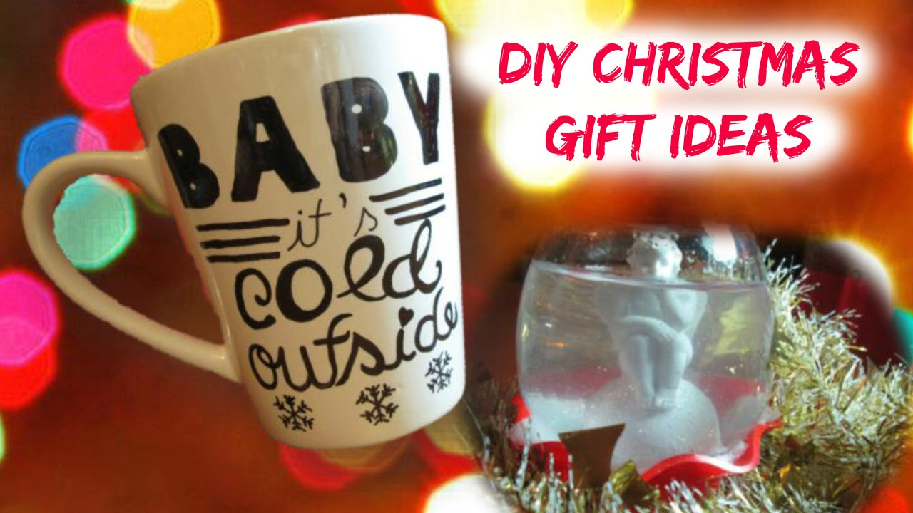 diy christmas gift ideas easy cheap coffee mug snow globe