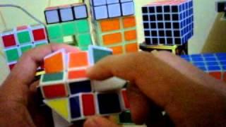 tutorial rubik square king atau fisher cube indonesia part 2 (pembuatan cross hitam atau putih)