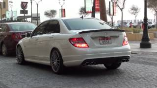 C63 AMG Mercedes-Benz - loud & proud - JBR The Walk Dubai Marina