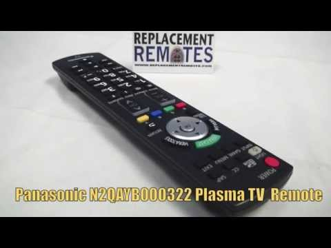 Panasonic N2QAYB000322 Plasma TV Remote -  Www.ReplacementRemotes.com