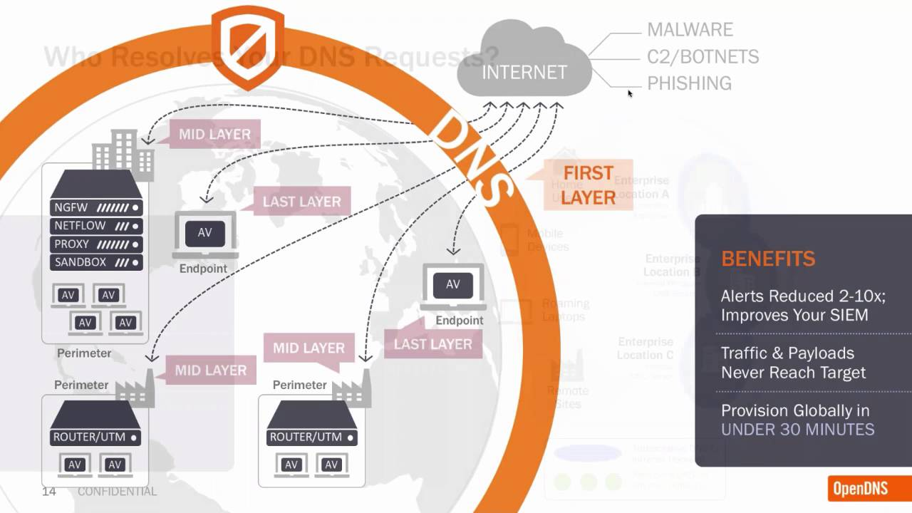how to get around opendns dns