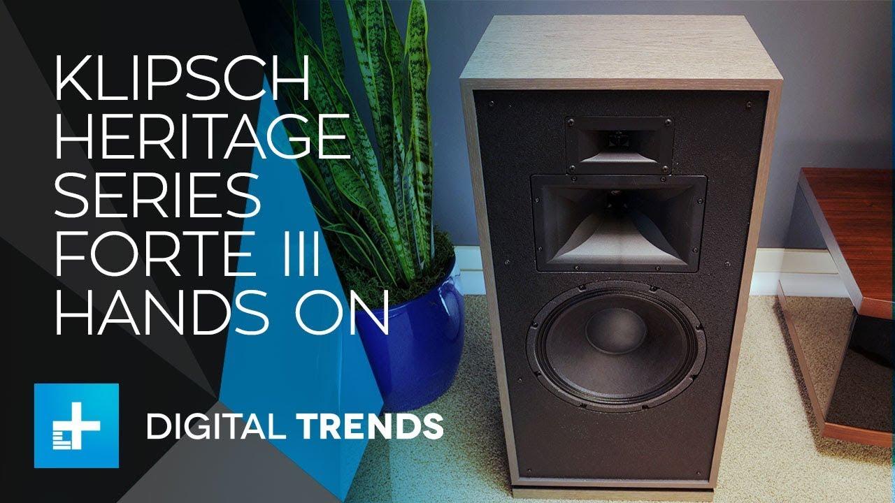Klipsch Heritage Series Forte III Speakers – Hands On Review