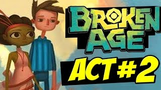 Broken Age Act 2 Walkthrough Part 1 Full Gameplay + Ending All Puzzles Solved Review PS4 PC