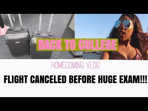FLIGHT CANCELED BEFORE HUGE EXAM    Back to College VLOG