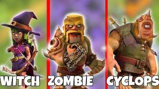 "ZOMBIE, WITCH CYCLOPS RAID!! ""Clash Of Clans"" HAPPY HALLOWEEN!!"