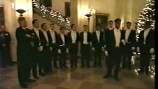 "Seth Sharp sings ""The Christmas Song"" for President Clinton at the White House"