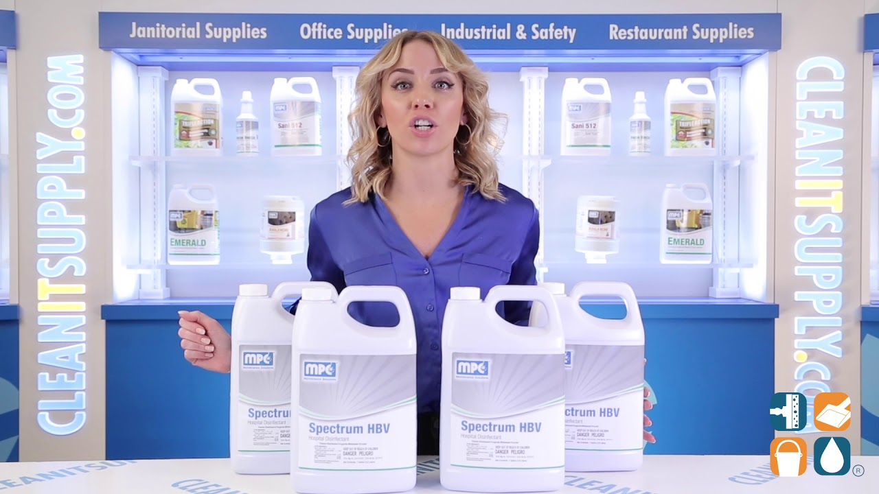 SPECTRUM HBV Hospital Virucidal Disinfectant, 1 Gallon Containers, 4 per  case