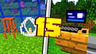 15 WYJĄTKOWYCH DEKORACJI W MINECRAFT 1.14!!   Minecraft Pomysłowe Dekoracje