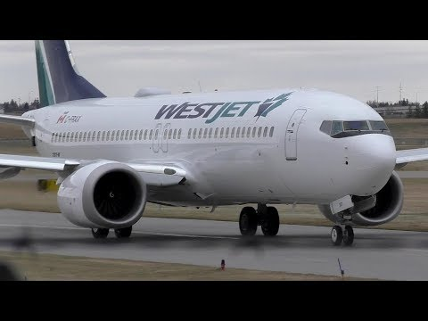 First 737 MAX Flight in Canada! WestJet 737 MAX 8 [C-FRAX] Takeoff from Calgary Airport ᴴᴰ