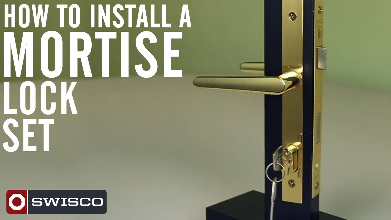 How to install the Swisco 40-049 Mortise lock set. - YouTube