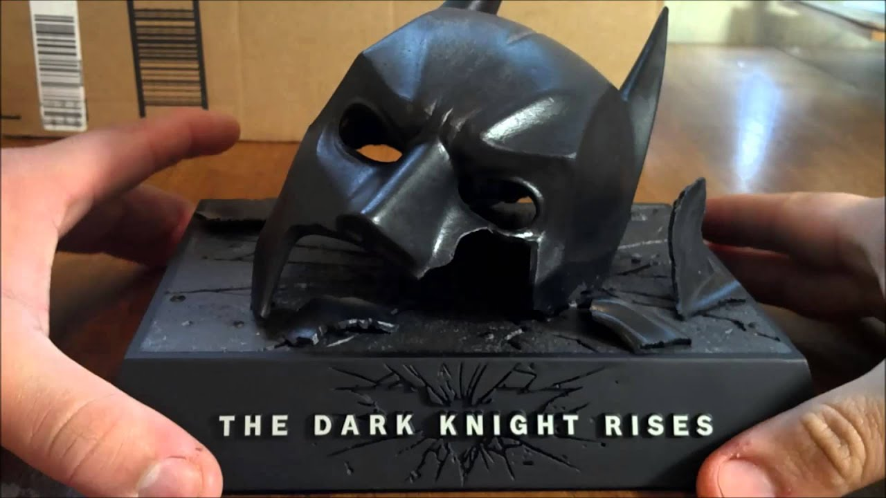 The Dark Knight Rise Broken Cowl Collector Edition - YouTube