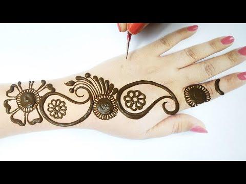 Eid Special Shaded Mehndi Design from Dots, Kari Shape & Flower - आसान गोल टिक्की मेहँदी लगाना सीखे