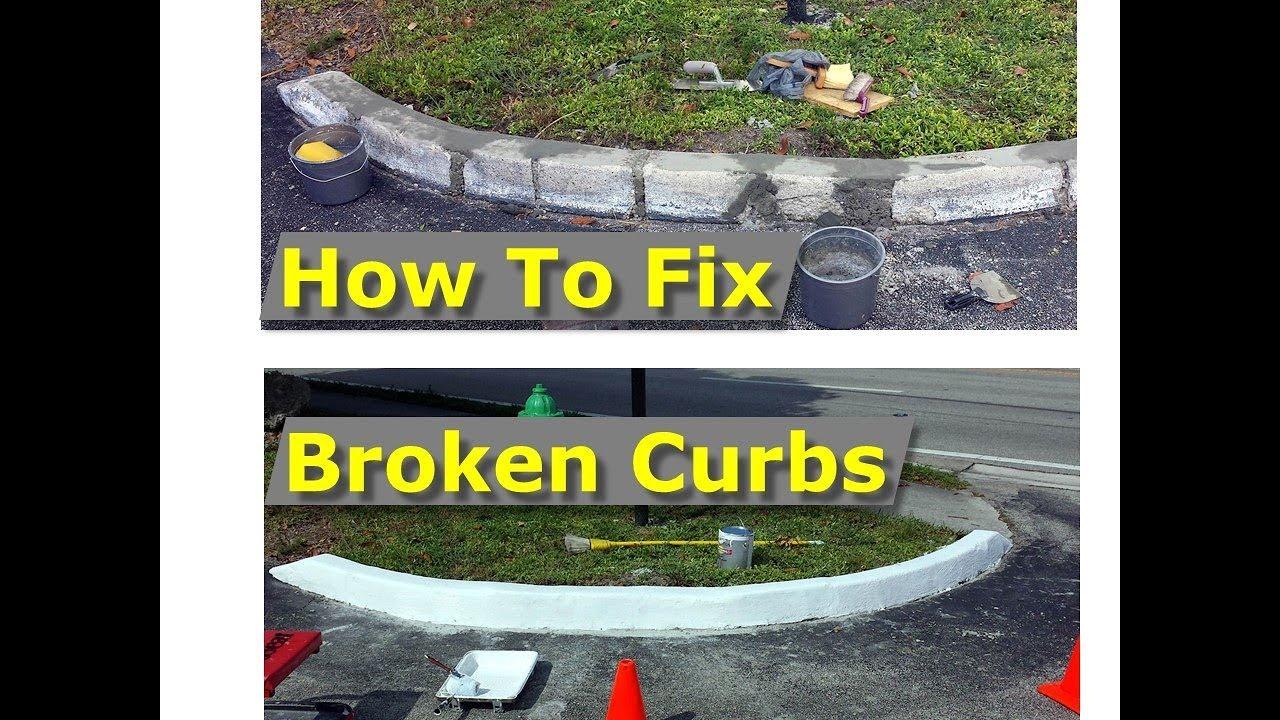 How To Repair Cracked Concrete Curbs Broken Into Segments