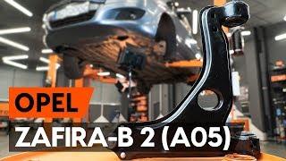 Jak vyměnit Řídící páka zavěšení kol OPEL ZAFIRA B (A05) - video průvodce