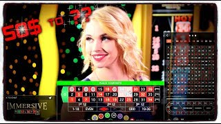 HD ✦ Live Roulette ✦ Challenge - 50$ to 250$ attempt #1 - Real Money - 1000% Profit! ♛