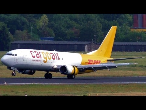 Special visitor! Cargo Air Boeing 737-448(SF) LZ-CGR landing + takeoff at Berlin Tegel Airport