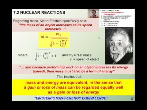 7.2.1 Special Relativity and Mass Energy Equivalence (1-9)