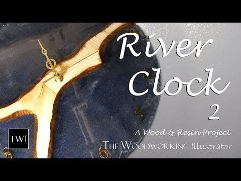 I Make Another Resin River Clock