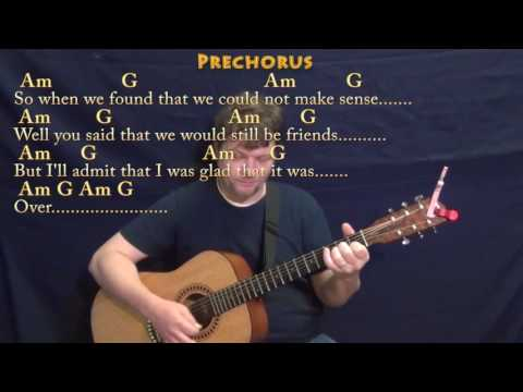 Somebody That I Used to Know (Goyte) Strum Guitar Cover Lesson in Am with Chords/Lyrics