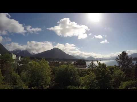 Sitka Alaska video time lapse of downtown Sitka and cloud formation