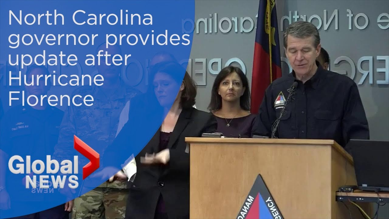 North Carolina officials provide update after Hurricane Florence