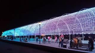 20181007 Светящаяся арка, вид сбоку. Набережная Актау