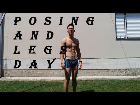 Posing and legs day - Poziranje(provera forme) i dan za noge