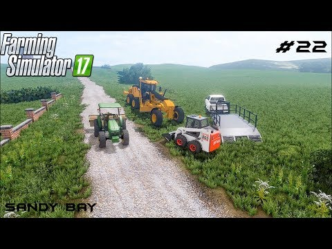 Buildling the road | Sandy Bay 17 | Farming Simulator 2017 | Episode 22 thumbnail