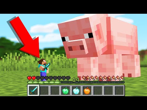 Minecraft but your Health is your Size...