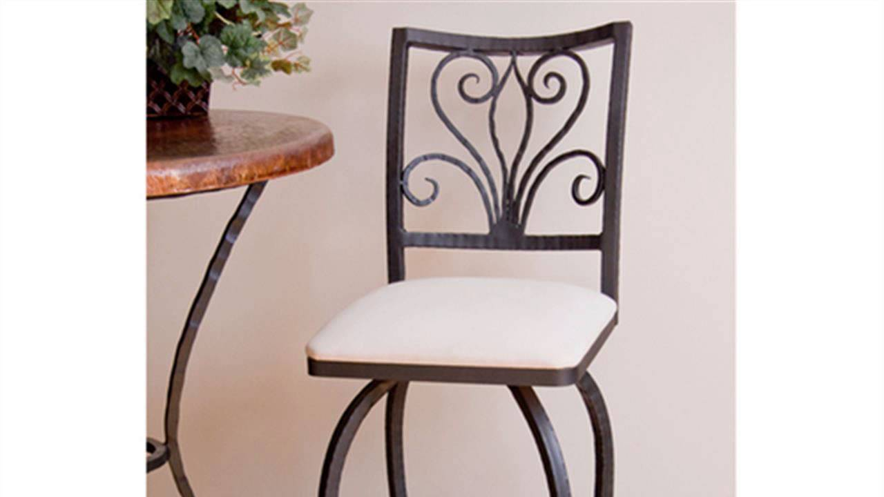 HOW TO : Refinish A Wrought Iron Bar Stool   YouTube