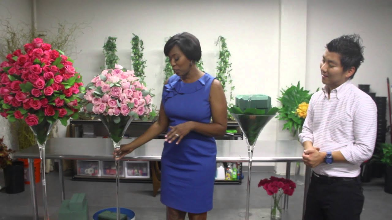 HOWTOVIDEO Wedding Flower Arrangements with Roses  YouTube