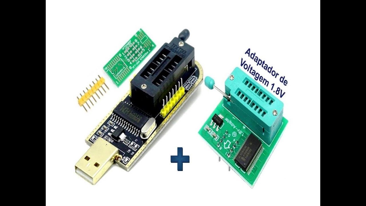 Gravando Programando Eprom Bios 1 8V de Notebook, Tablet Desktop  Programador CH341A