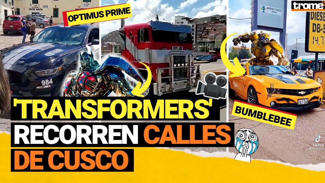 Download TRANSFORMERS en PERÚ: Así fue la caravana de AUTOBOTS en las calles de Cusco