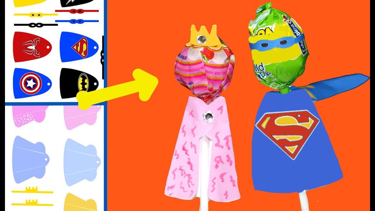 Chupa chups de princesas o superh roes de ideas para - Ideas para fiestas ...
