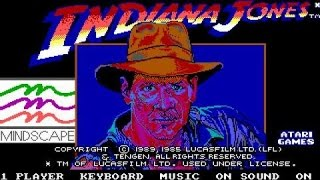 Indiana Jones and the Temple of Doom gameplay (PC Game, 1987)