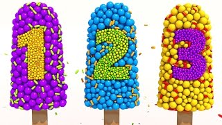Learn Numbers with 3D Popsicle for Children Kids 1 10