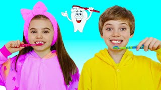 Brush your Teeth song - Nick and Poli Clothing Sing-Along Nursery Rhymes Kids Song