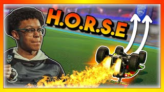 This PRO Rocket League player challenged me to a game of HORSE