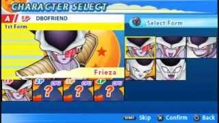 DBZTT (DragonBall Z Tenkaichi Tag Team): All Characters and Transformations {DBOFRIEND} [HD]
