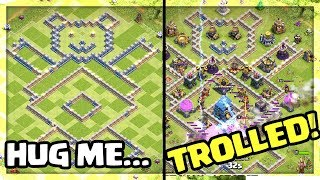 BEST TROLL Base BEATS LEGENDS! Clash of Clans Funny Moments - EPIC TROLL Base!