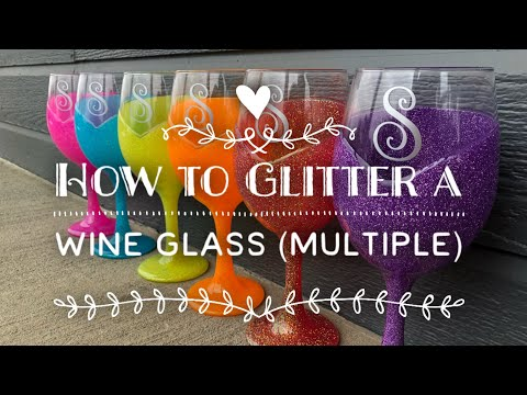 DIY: How To Glitter A Wine Glass
