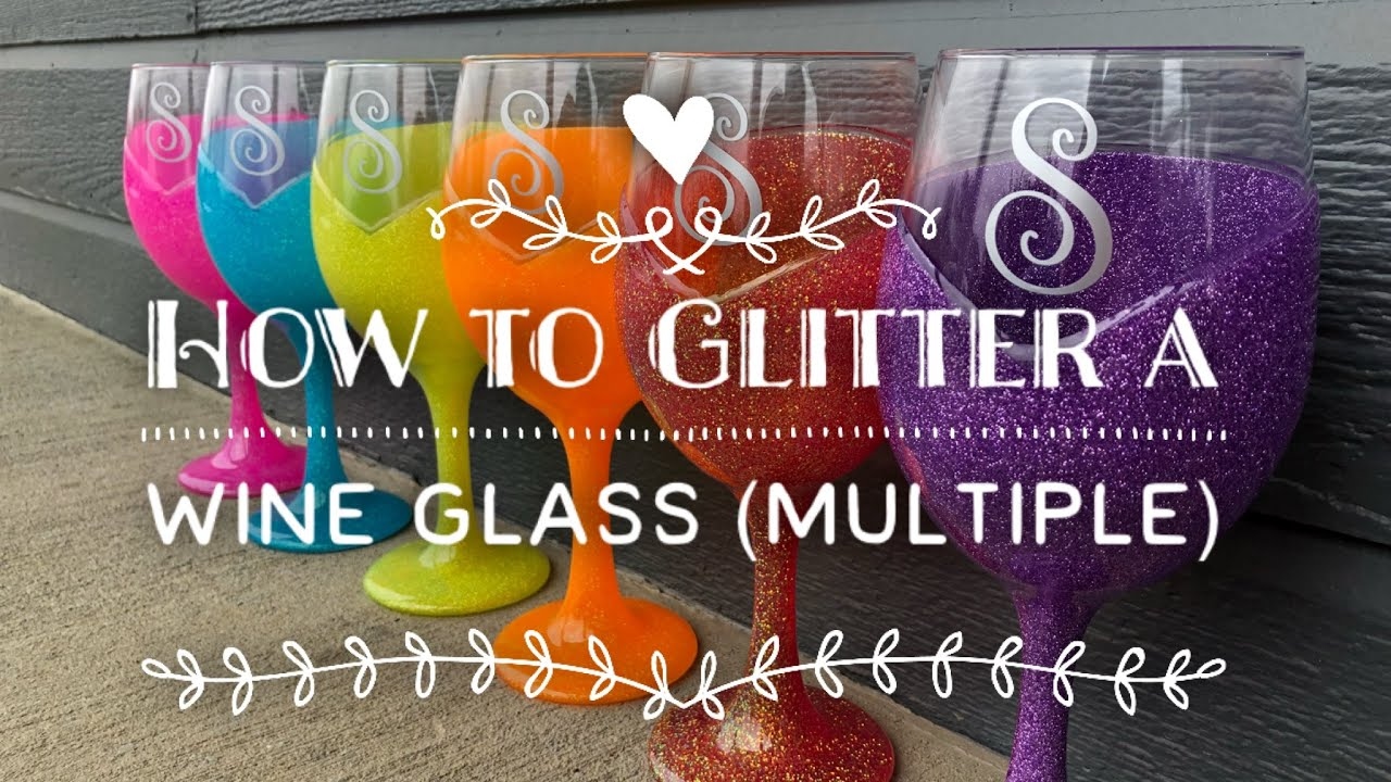 Diy How To Glitter A Wine Glass Youtube