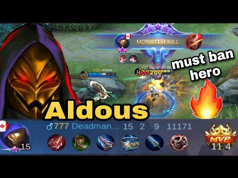 Reason why Aldous is often banned in ranked matchup ~ Unstoppable in the late game | Mobile Legends