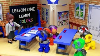 Paw Patrol Go To School! Lesson One LEARN COLORS - Toys Play Time