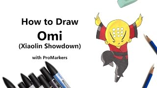 How to Draw and Color Omi from Xiaolin Showdown with ProMarkers [Speed Drawing]