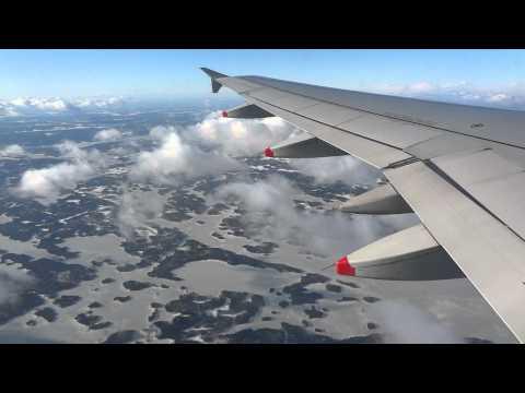 Flying into Helsinki, Finland