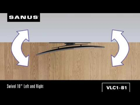 The Best TV Wall Mount for Curved TVs SANUS Swivel Mount - YouTube