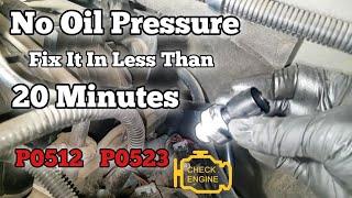 P0521 P0523 No Oil Pressure On Gauge Chevy Truck Silverado Sierra Tahoe Suburban  ls sending unit