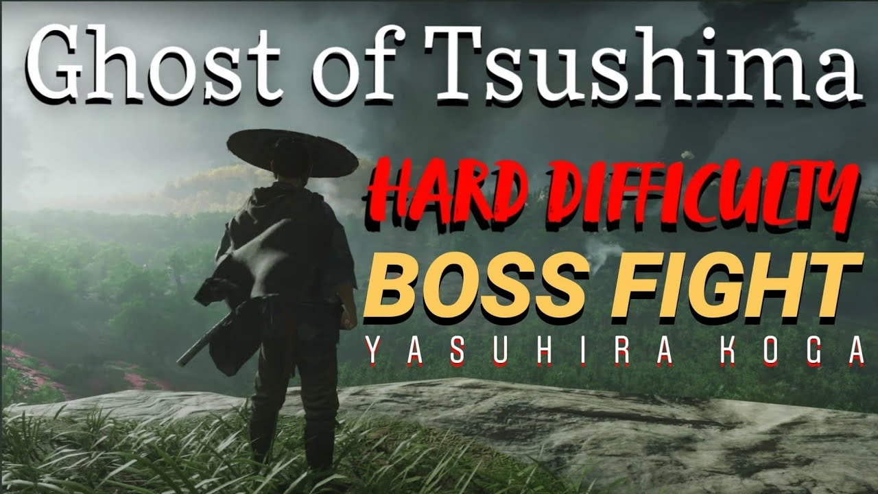 Ghost of Tsushima -- Hard Difficulty Boss Fight -- Yasuhira Koga
