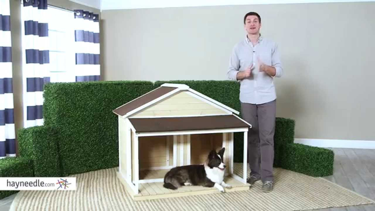 Boomer George Medium Duplex Dog House Antique White Wash Product Review Video